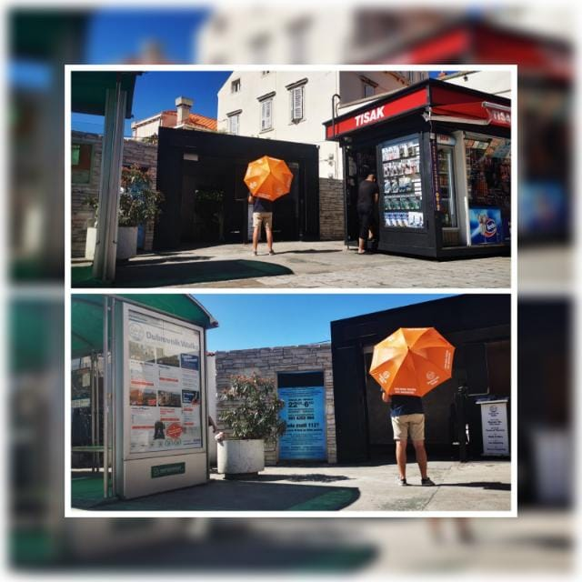 <h3>Dubrovnik Walks' orange umbrella!<span style=